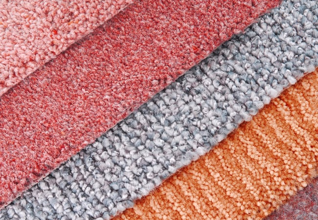 stack of carpet samples